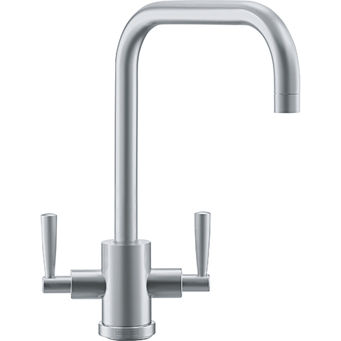 Franke Olympus U-spout Dual Lever Kitchen Tap Stainless Steel