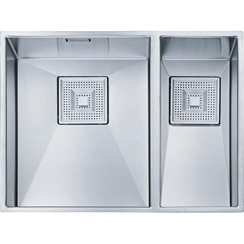 An image of Franke Peak Pkx160 34-18 1.5b Undermount Rsb Kitchen Sink Stainless Steel