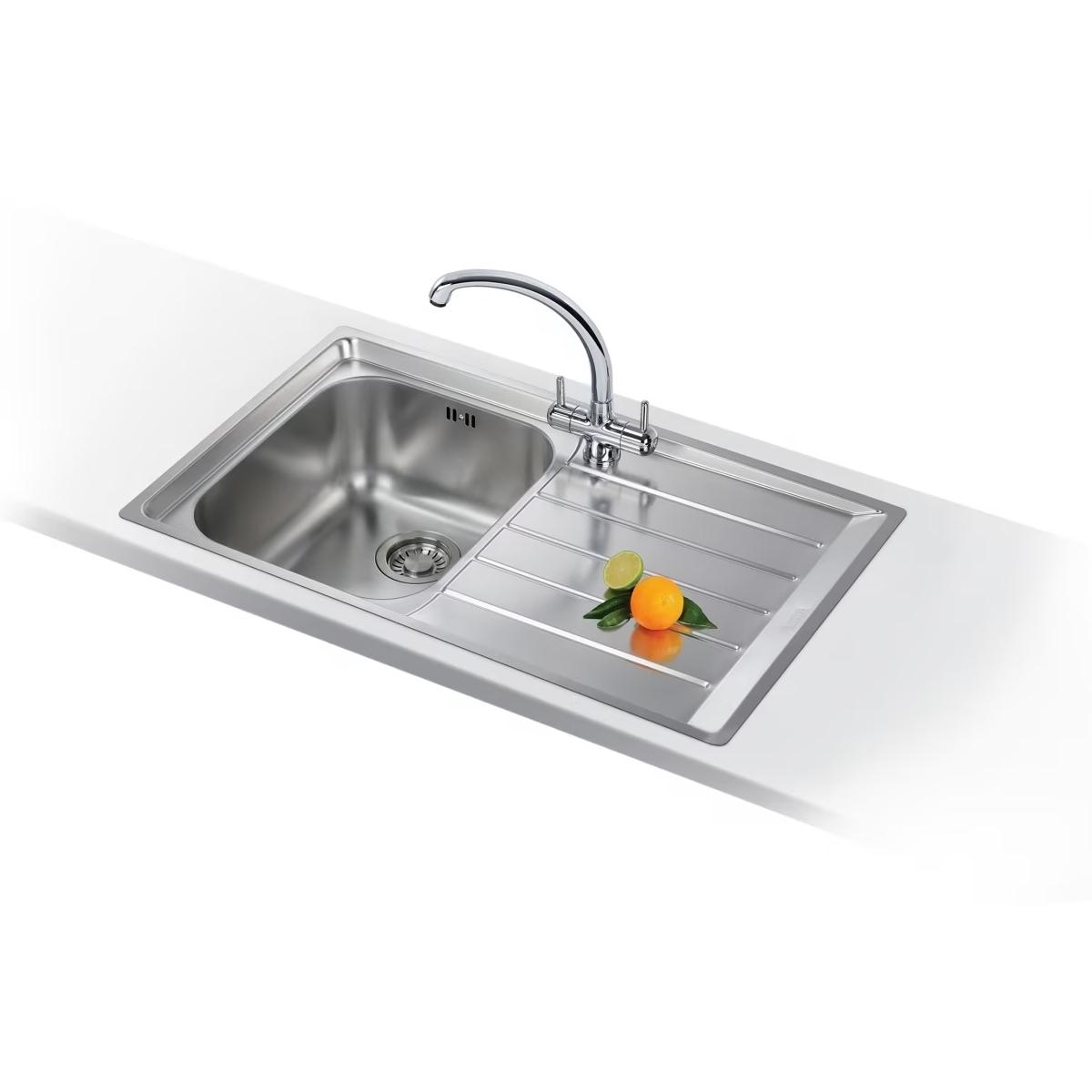 An image of Neptune Slim-top Nex Inset Kitchen Sink Nex 211  Rh Stainless Steel