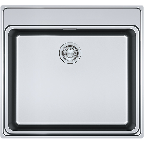 An image of Franke Frames By Franke 1b Inset Kitchen Sink Stainless Steel