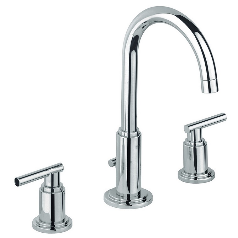 Grohe Spa Atrio Three Hole Basin Mixer Tap With Jota Handle