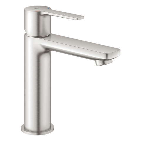 An image of Grohe Lineare Deck Mounted Basin Tap Supersteel  S-Size