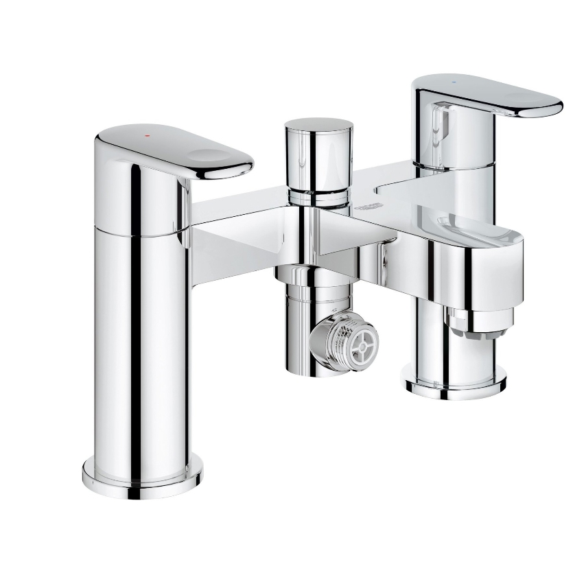 Grohe Europlus Chrome Deck Mounted Bath Shower Mixer Tap