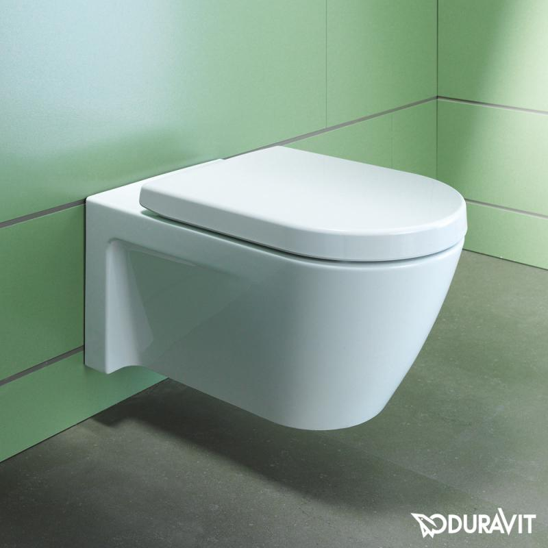 Duravit Starck 2 Wall Mounted Washdown Durafix Toilet Pan