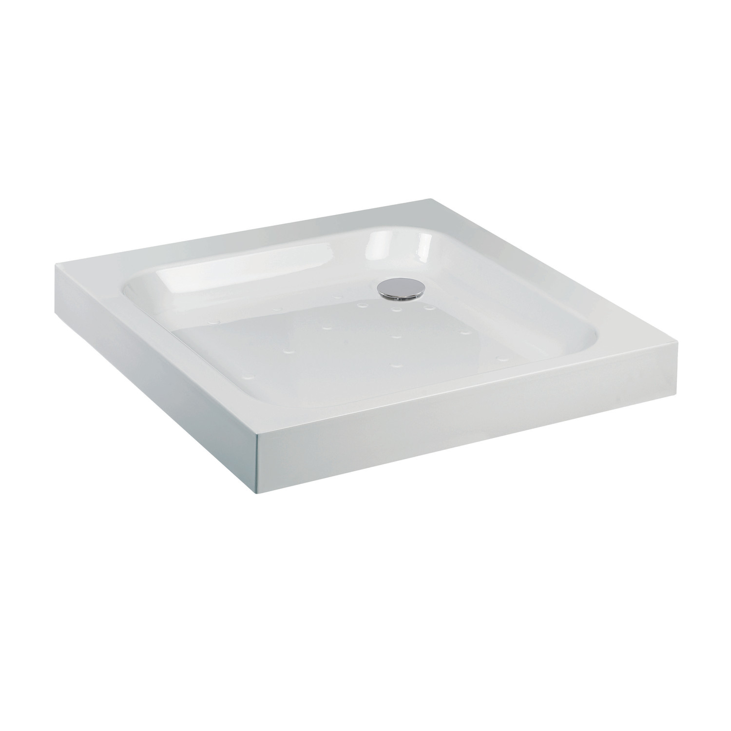 An image of Jt Ultracast White 700 X 700 Square Flat Top Shower Tray