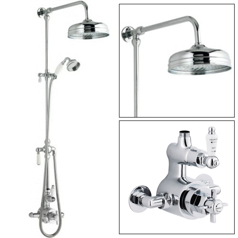 Ultra Grand Victorian Traditional Thermostatic Shower Mixer Valve ...
