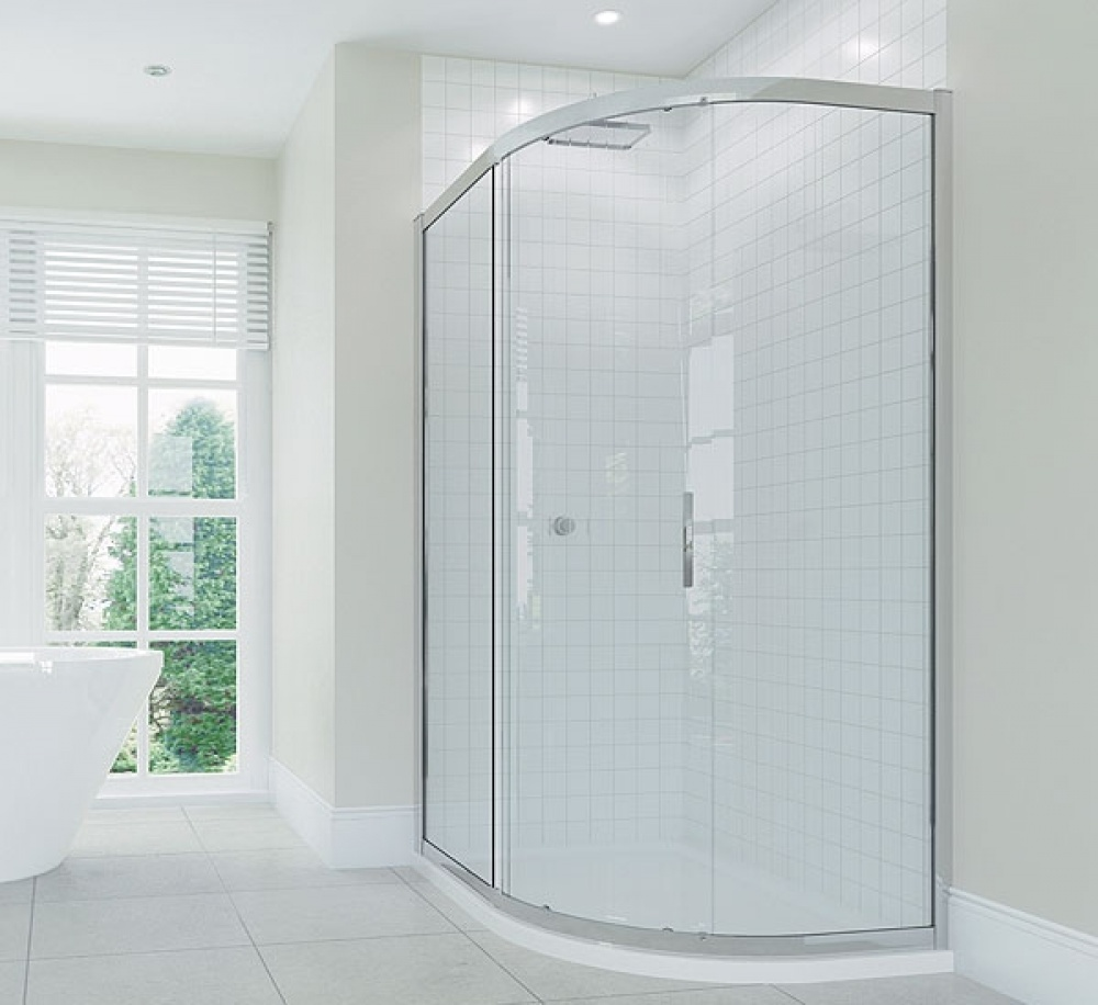 April Identiti2 Single Door Offset Quad Shower Enclosure 900x760mm