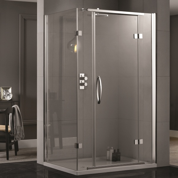 An image of Aquadart Inline 1000x800 2 Sided Hinged Door Shower Enclosure