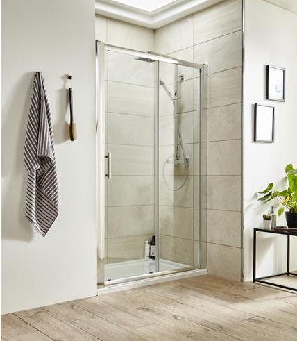 An image of Premier Pacific 1400mm Sliding Shower Door