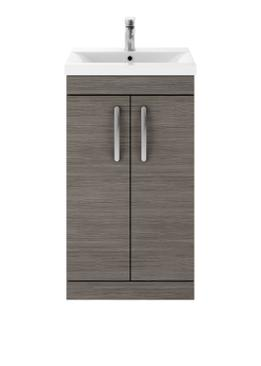Premier  Floor Standing Vanity Unit 500mm Cabinet and Basin 2 GREY AVOLA