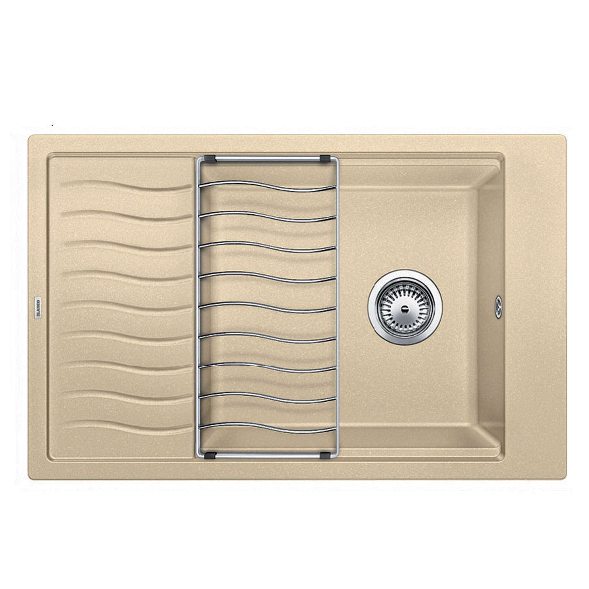 An image of Blanco Inset Silgranit Kitchen Sink ELON XL 6 S CHAMPAGNE