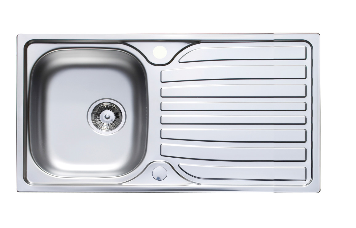 Prima 1 bowl inset reversible kitchen sink stainless steel cpr012