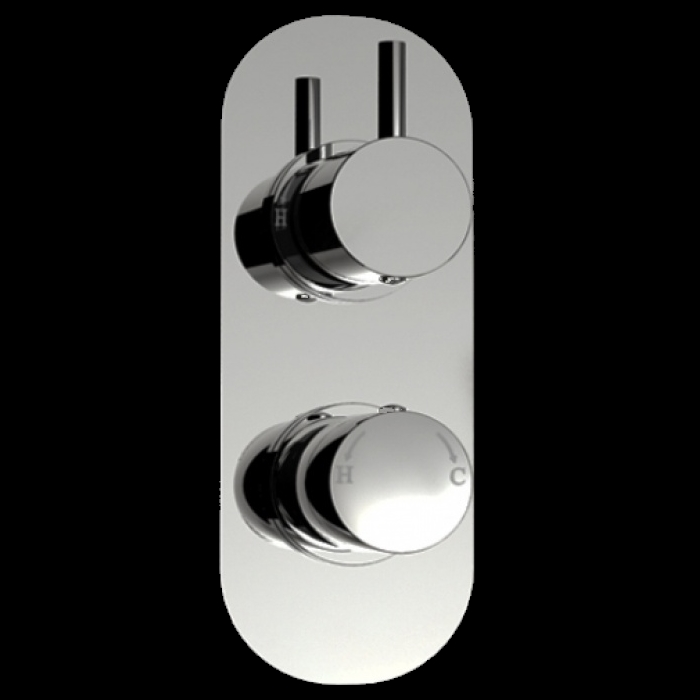An image of 1 Way Round Handled Concealed Thermostatic Shower Mixer Valve
