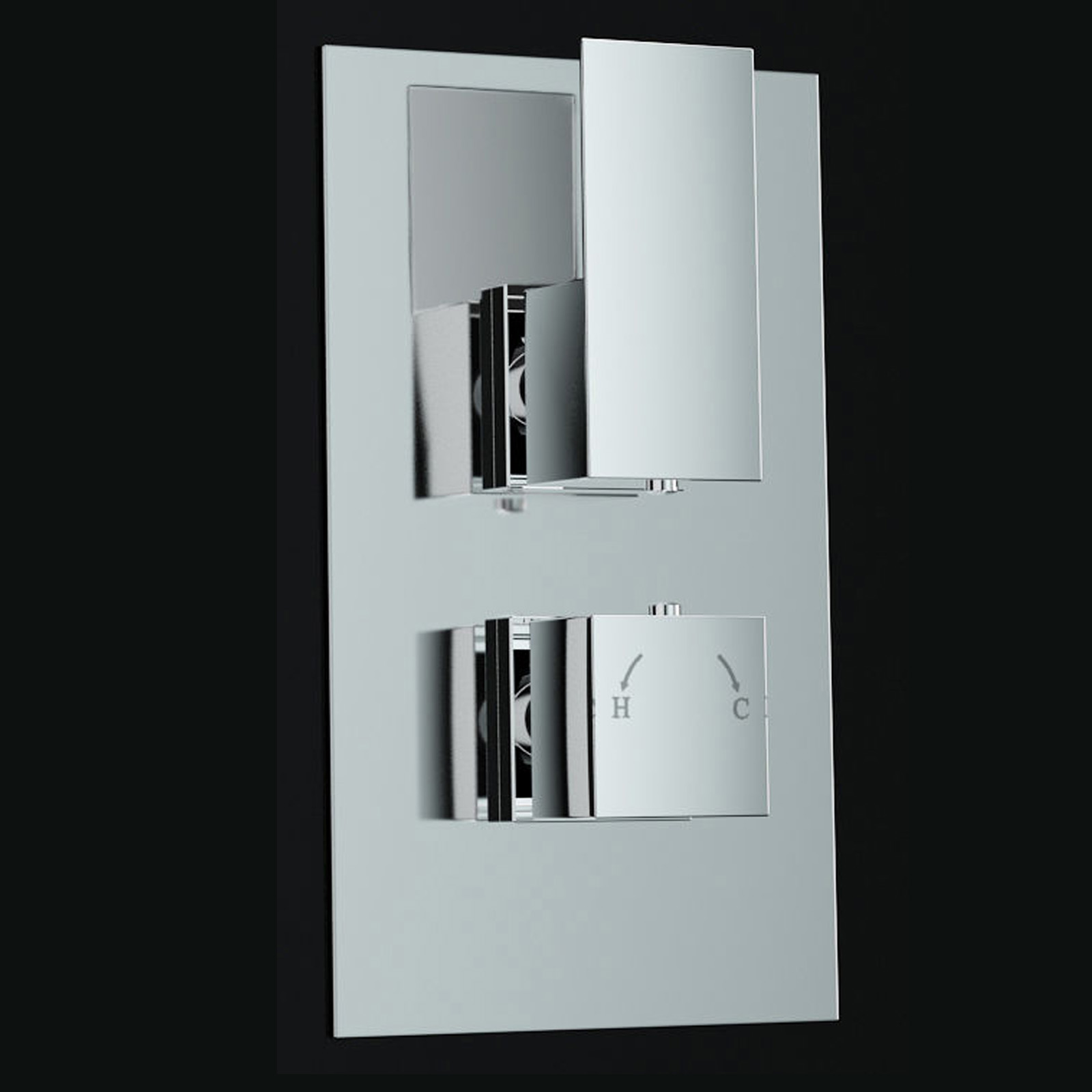 An image of 1 Way Concealed Thermostatic Mixer Shower Valve Lever Handle