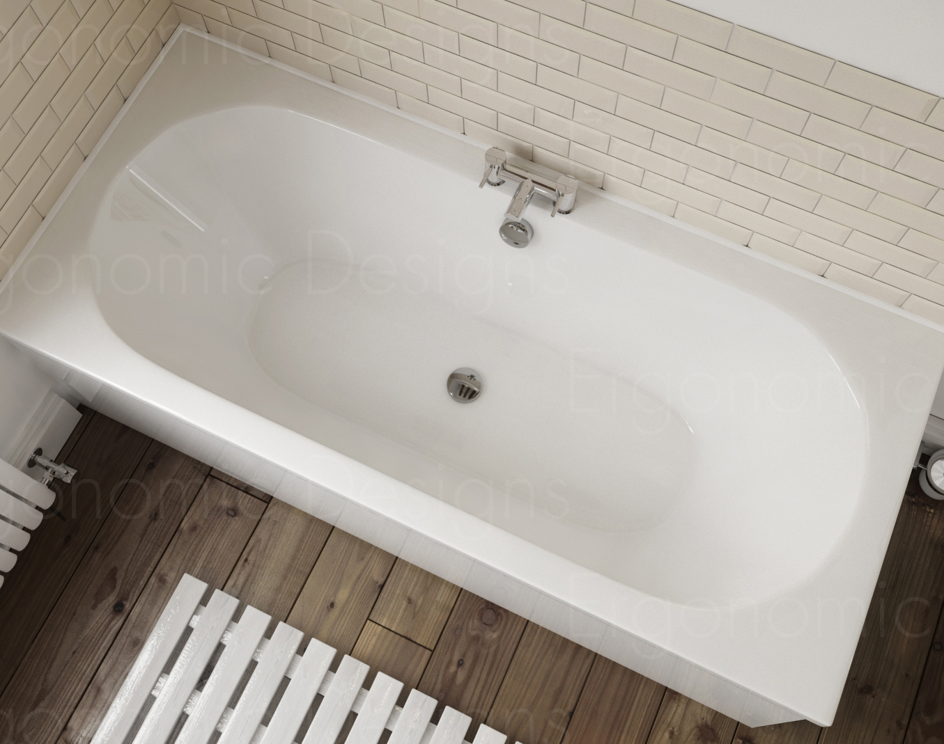 1800 X 800 Straight Standard Bath Bathroom Acrylic Round