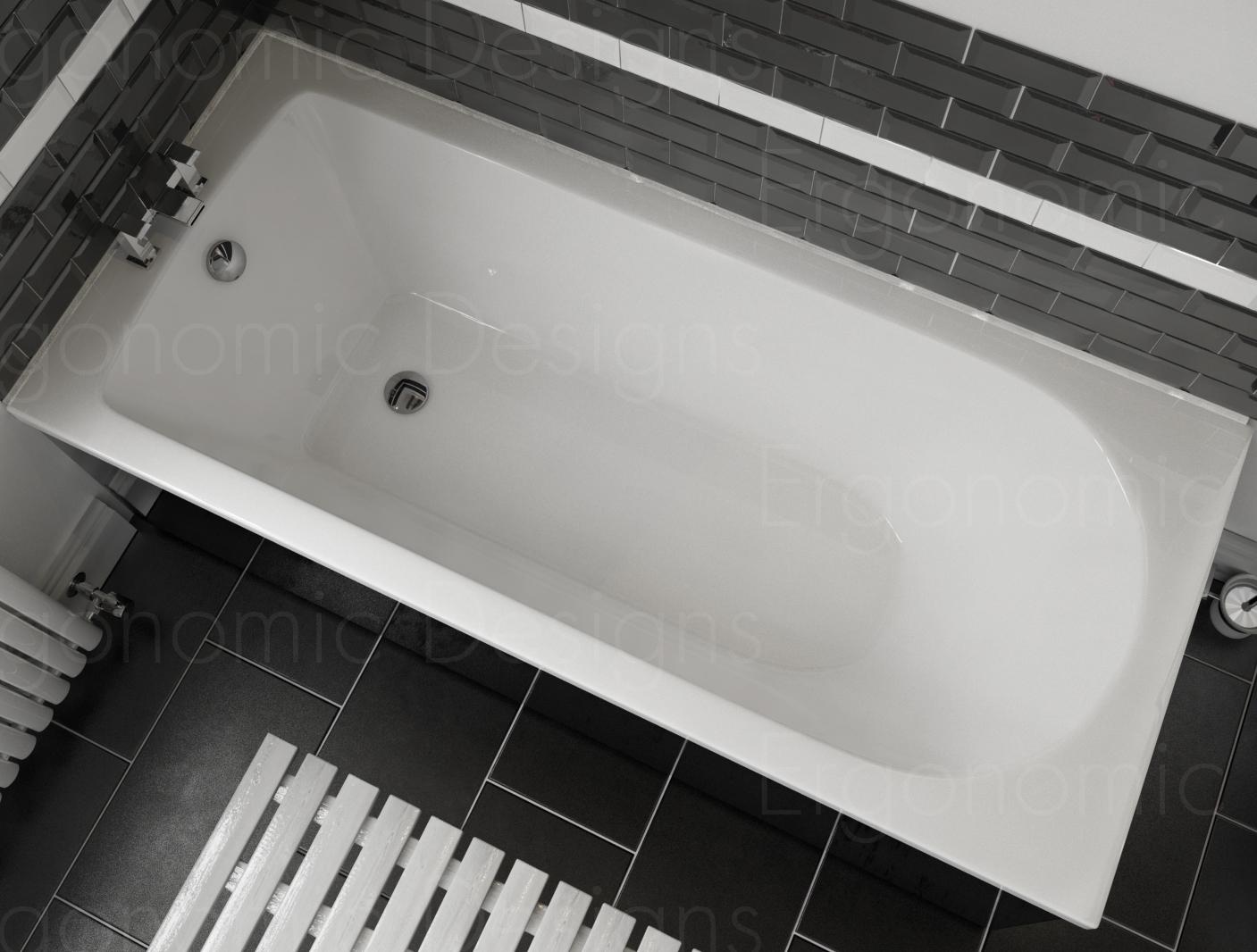 1500 X 700 Straight Standard Bath Modern Bathroom Acrylic Single ...