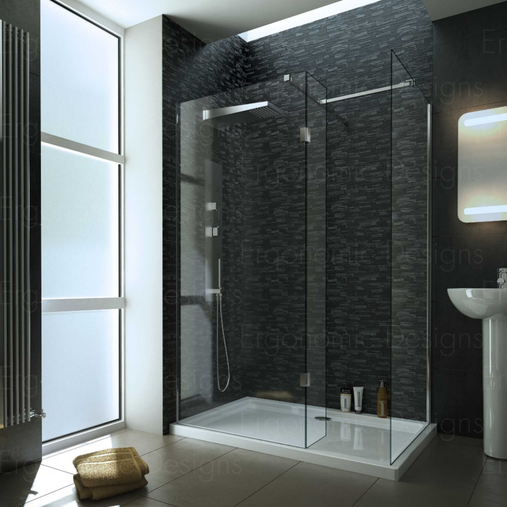 1400 X 900mm Walk In 10mm Wetroom Shower Enclosure With