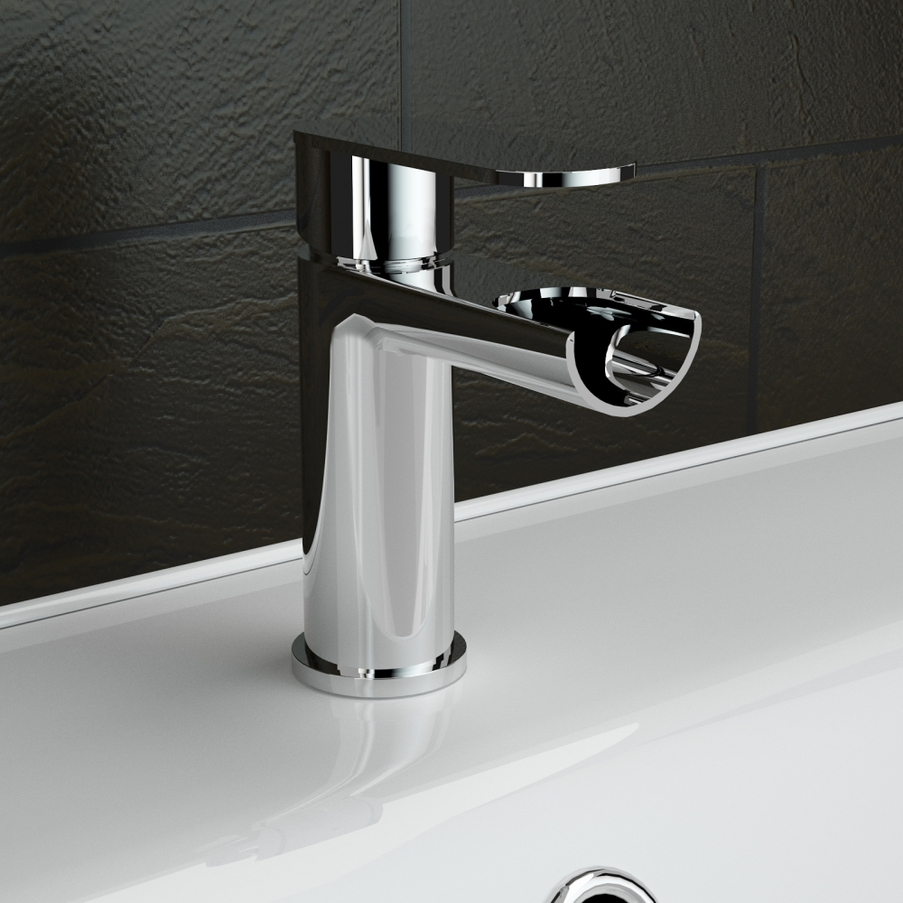 Ergonomic Designs Round Lever Waterfall Basin Mixer Tap | eBay