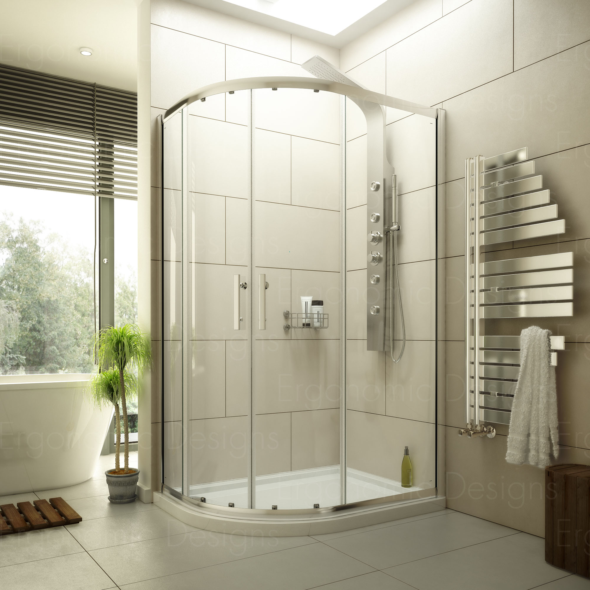 1200 X 900 Offset Quadrant Corner Shower Enclosure Cubicle With 6mm Glass Ebay