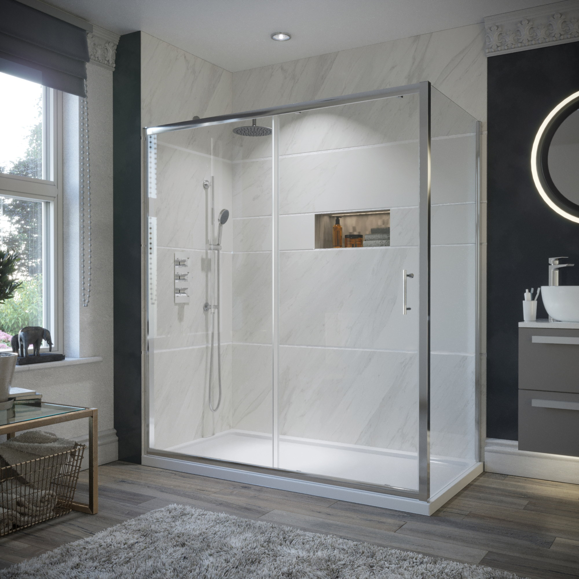 X for 1700 high shower door