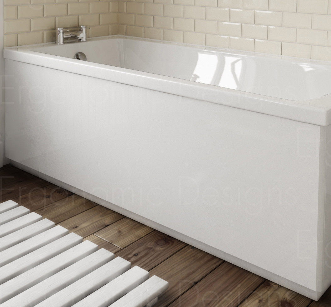 ergonomic designs bathroom white bath side panel 1700mm