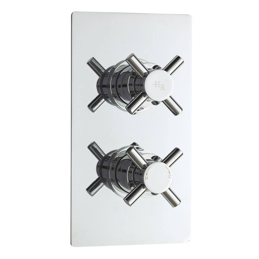 An image of Hudson Reed Tec Crosshead Twin Concealed Thermostatic Shower Valve