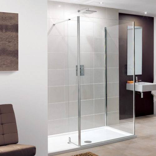 Lakes Coastline Silver 1200 x 800 Walk In Shower Enclosure and Tray
