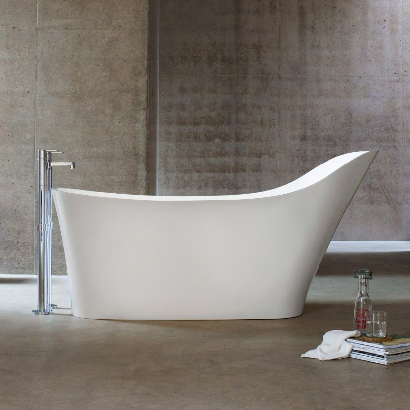 Clearwater Nebbia 1600 x 800mm Natural Stone Freestanding Bath