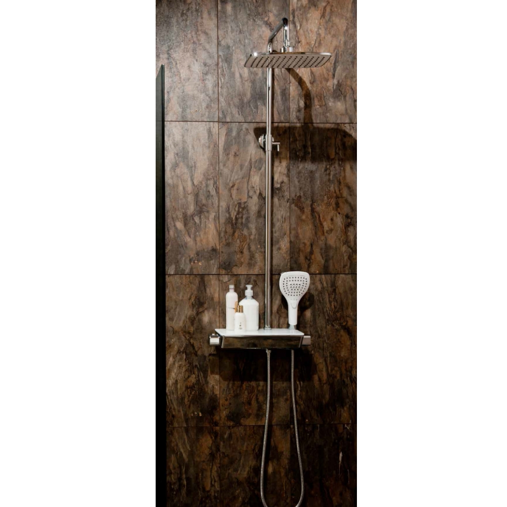 Cassellie Thermostatic Exposed Shower Pole