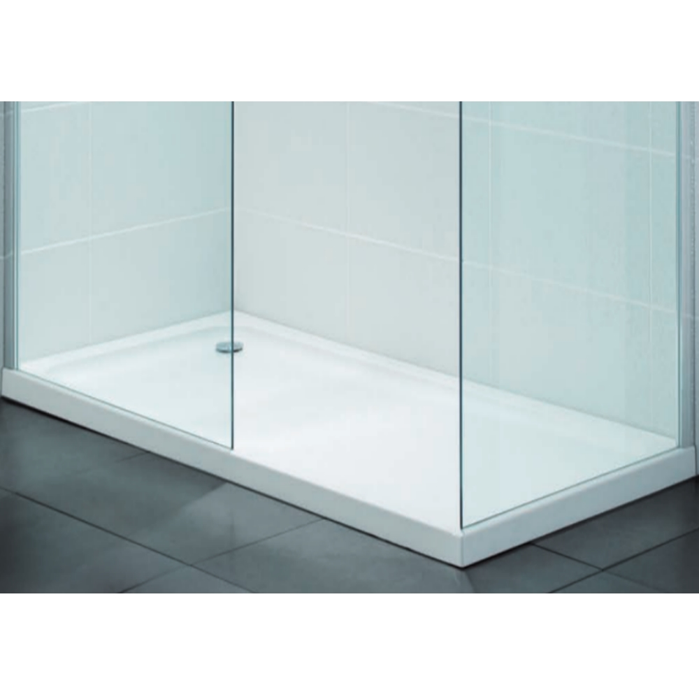 April Low Profile Stone Resin Rectangle 1000 x 800mm Shower Tray