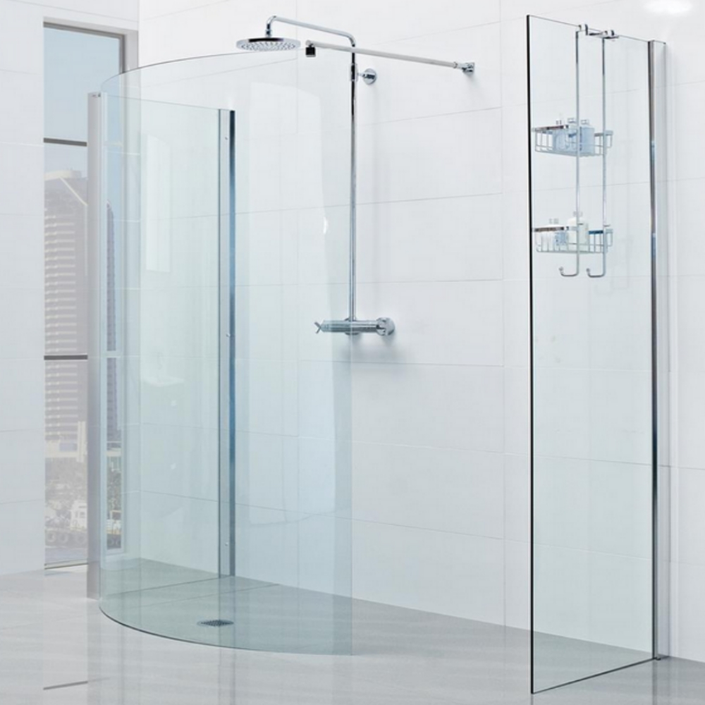 Roman Lumin8 Colossus 1450mm Curved Walk in Shower Enclosure with 2 ...