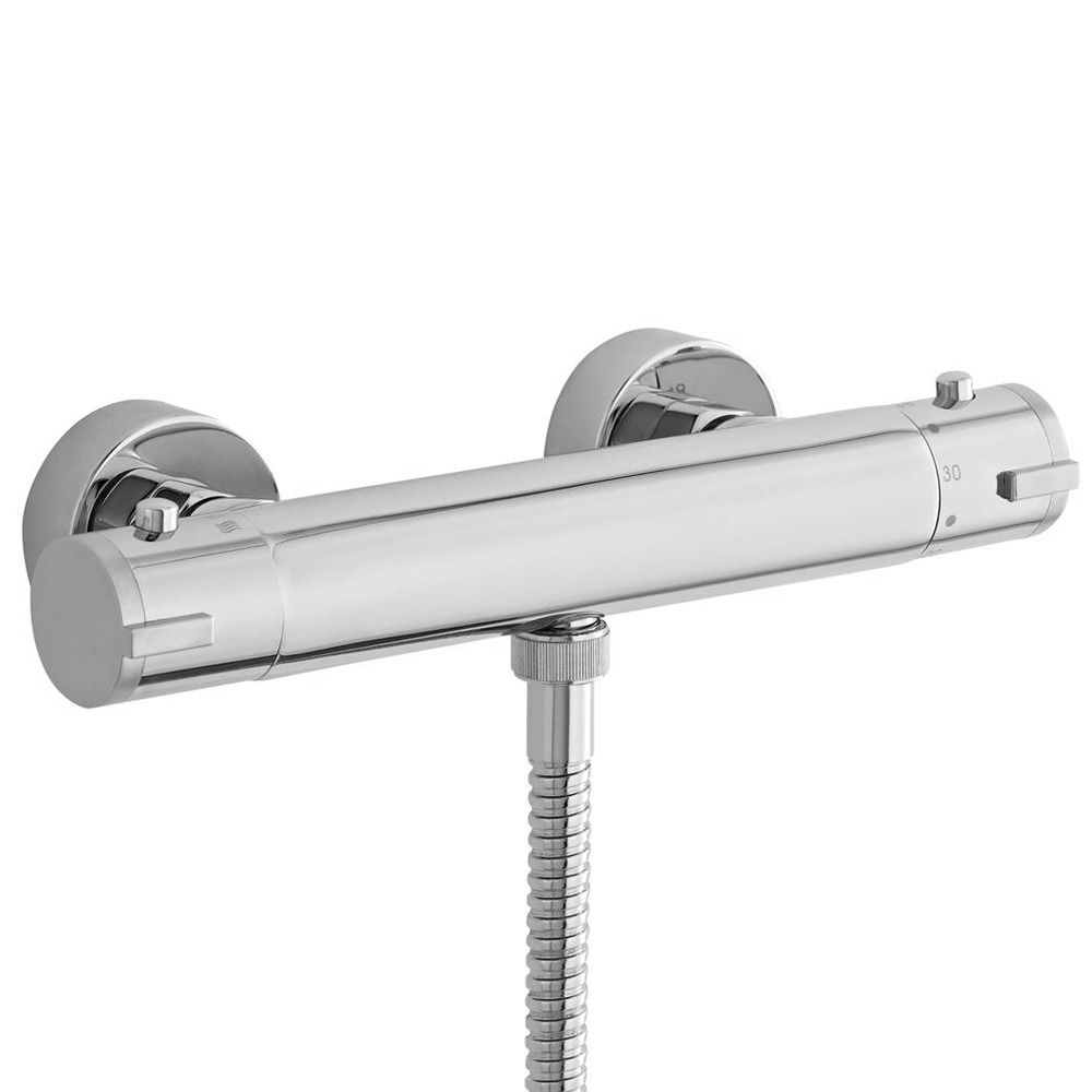 Ultra Minimalist Thermostatic Bar Shower Valve with Bottom Outlet