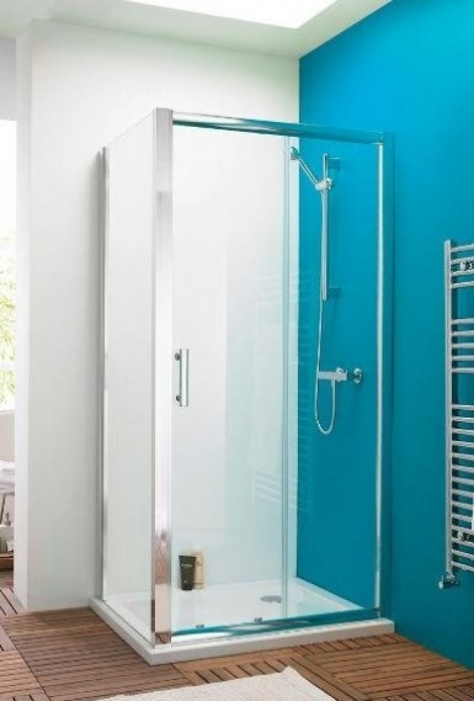 An image of Premier Pacific 1700 X 700 Sliding Door Shower Enclosure With Tray