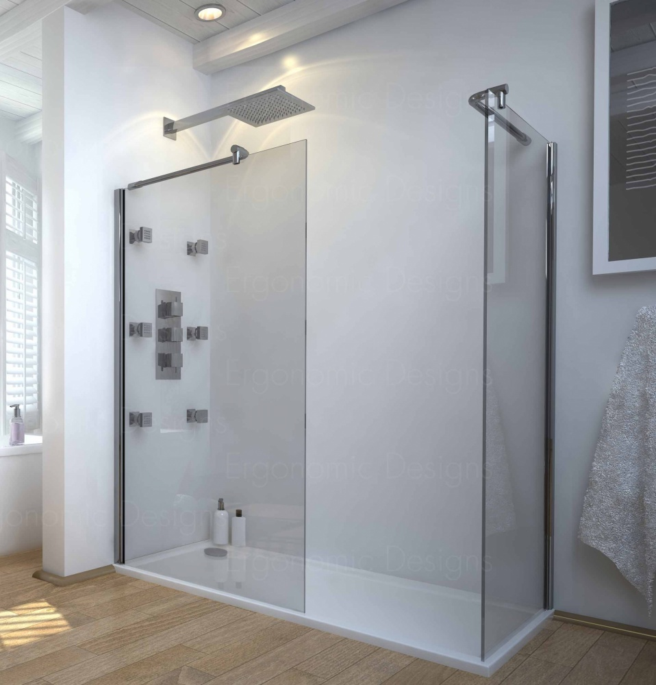 1200x900 walk in 8mm glass wetroom shower cubicle with Walk in shower kits